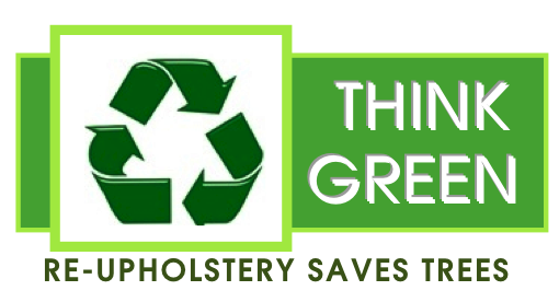 Reupholstery Slipcovers Save Trees Think Green Recyle symbol