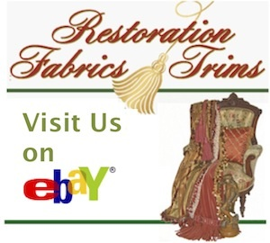 Restoration Fabrics & Trims Logo with ebay link